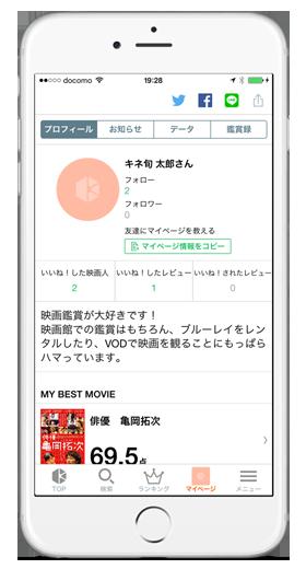 マイページ kinenote iphoneアプリ